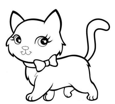 mewarnai gambar kucing yang lucu gambar hewan sketsa