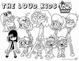 Loud Coloring Pages Characters Printable Cartoon Bettercoloring Valentines Getdrawings Popular sketch template