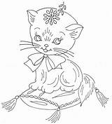 Embroidery Hand Patterns Pattern Cat Flickr Coloring Pages Juvenile Jamboree Designs Stitch Quilt Cats Daisy Outline Cross Sheets Sew Recent sketch template