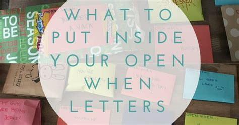 What To Put Inside Your Open When Letters Glendora