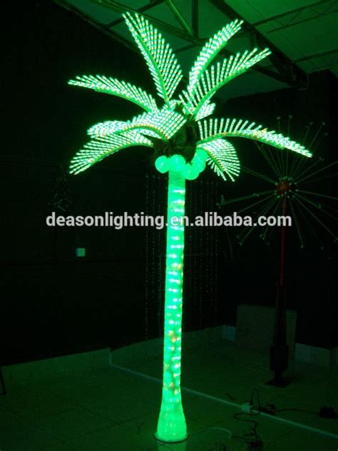 led lighted palm trees plastic lighted palm trees