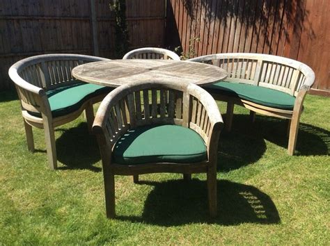 cotswold teak garden table chairs cushions