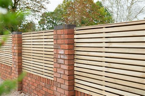ft high  ft wide forest double sided slatted fence