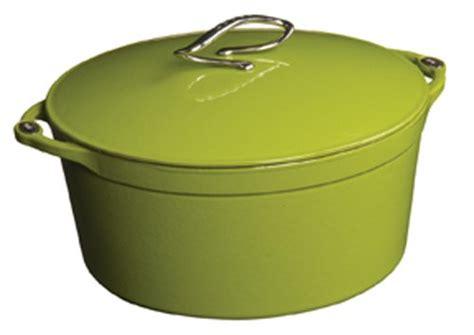 lodge  series ed enameled cast iron dutch oven apple green  quart www