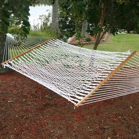 Cotton Rope Hammock by Deluxe Cotton Rope Hammock Outdoor Patio Walmart