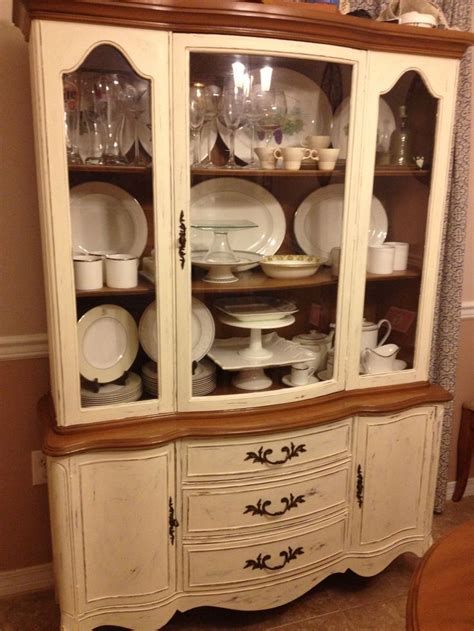 painted china cabinet painted using sloan chalk