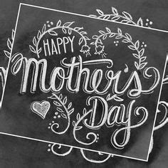 mothers day card happy mothers day chalkboard art