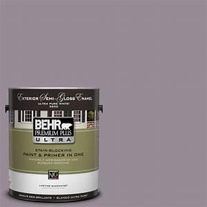 Behr premium plus ultra 1 gal ul250 18 victorian semi for Semi gloss or satin for bathroom