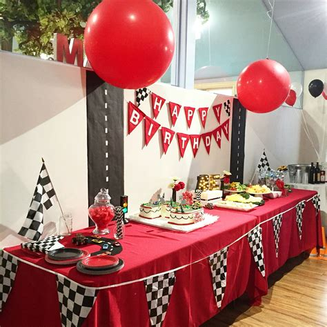 cars theme table decor  snooknuk disney cars theme