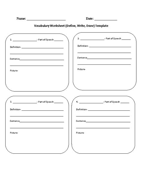 17 Best Images Of Matching Worksheet Template Pdf  Vocabulary Matching Worksheet Template