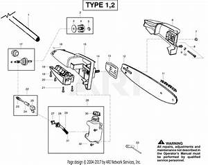 Poulan Pp258tp Pole Pruner Type 2 Parts Diagram For