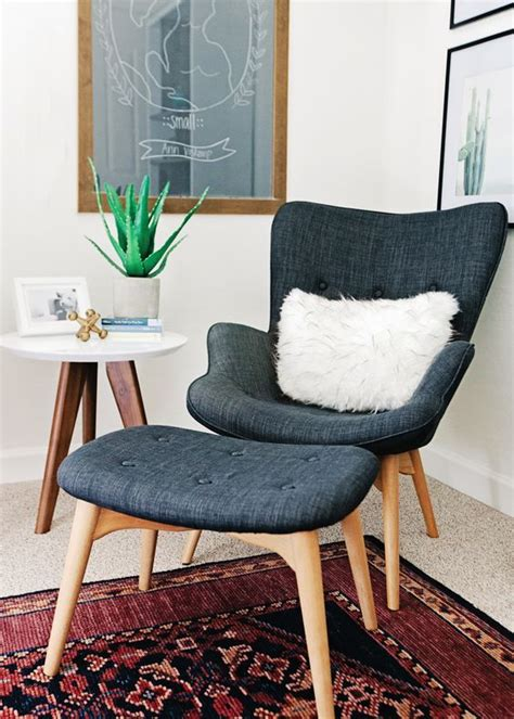 Mid Century Modern Chair And Ottoman by 37 Ideas To Decorate And Organize A Nursery Digsdigs