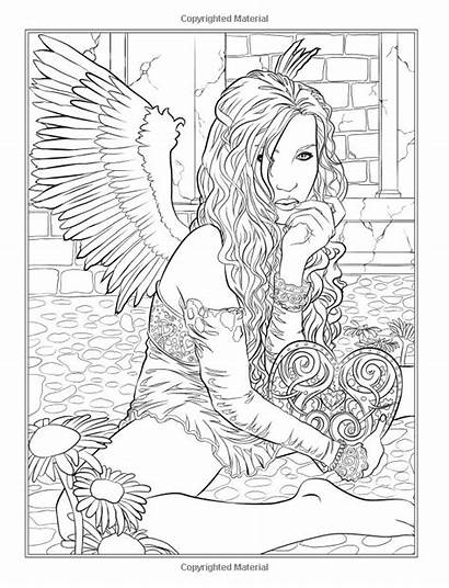 Coloring Dark Fantasy Gothic Selina Fenech Pages