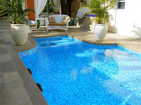 palm springs pool and spa remodel 3 color mix tile