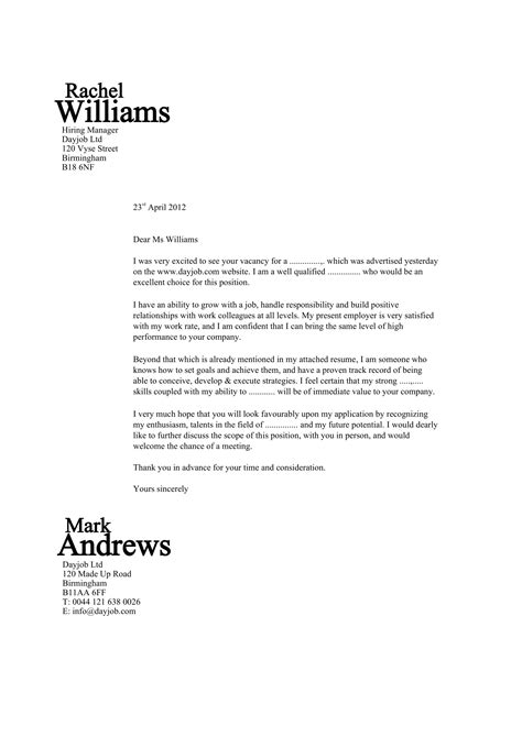 excellent cover letter  job application mla format