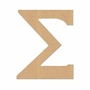 amazoncom 4quot letter quotsigmaquot greek font unfinished wood With wooden greek letters amazon