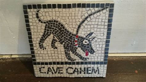 Cave Canem Doormat by Beware Of The Sign Plaque In Quot Cave Canem