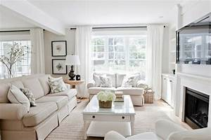 Lux decor bright living room with light linen colored for Bright living room