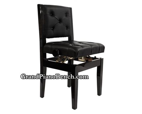 deluxe piano chair padded back adjustable