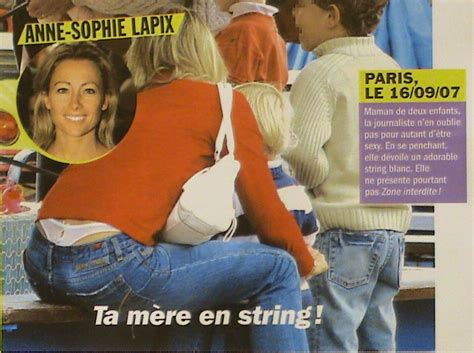 Anne Sophie Lapix Nue Dans Urbain Dessous Apparent String