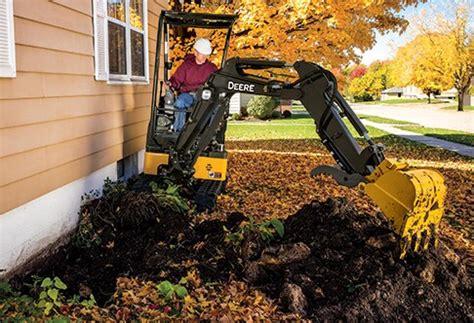 compact excavator  john deere