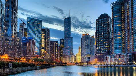 chicago skyline desktop background travel hd wallpapers