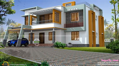 home house plans box style house kerala home design and floor plans