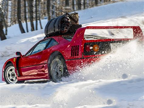 How Much Is A F40 Worth by What Taking A F40 To The Slopes Looks Like Web2carz