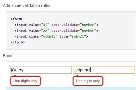 customizable jquery client side validation plugin verify js free jquery plugins