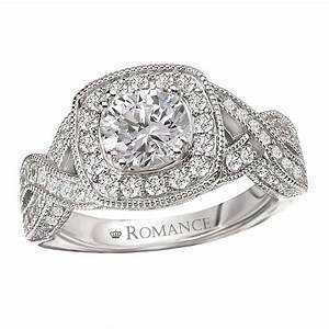 romance halo with braided shoulder engagement ring With romance wedding rings
