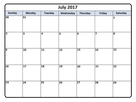 2017 calendar template word july 2017 calendar ms word