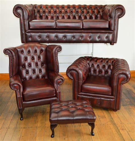 Chesterfield Leather Sofa Sale by Chesterfield Leather Suite Chair Sofa B New 3 Colours Ebay