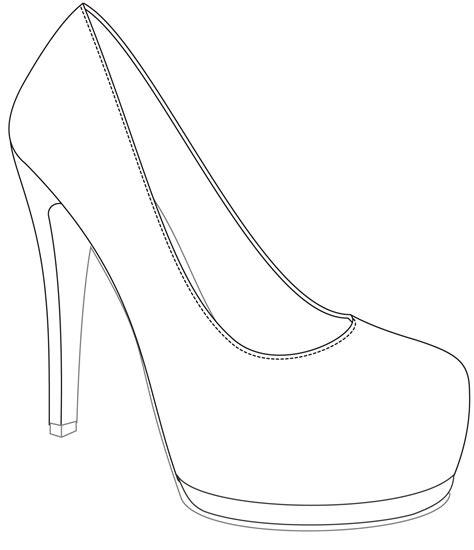 shoe outline template platform shoe