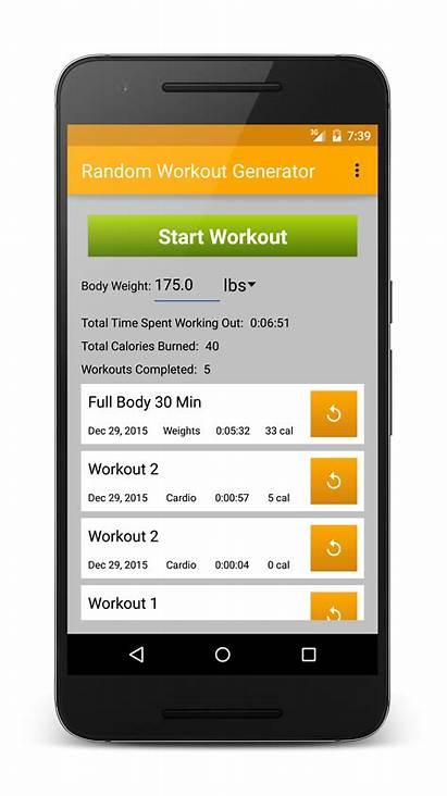 Random Generator Workout Apps Tags Calculator