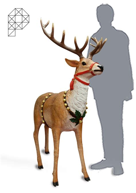 christmas reindeer life size prop me up event prop hire