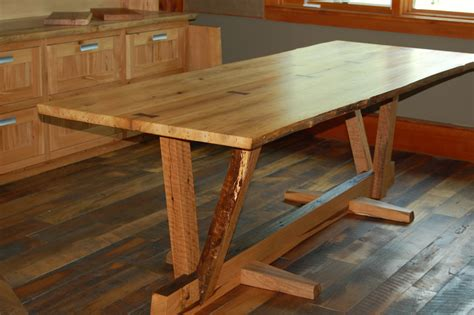 rustic wood table ls reclaimed wood dining room table home design ideas