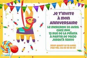 Carte Anniversaire Pour Enfant : 123 cartes invitation anniversaire pinata ~ Melissatoandfro.com Idées de Décoration