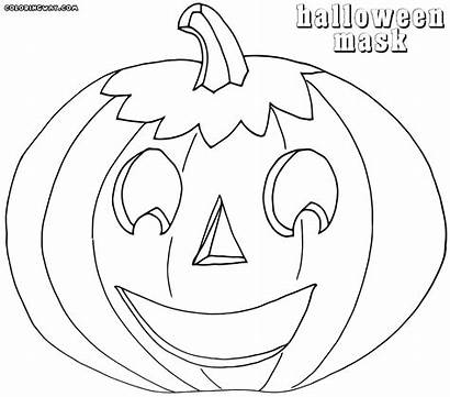 Mask Halloween Coloring Pages Colorings Coloringway