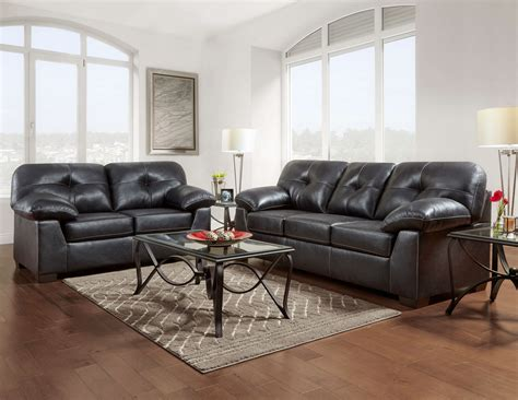 Sofa And Loveseat by Nevada Black Sofa And Loveseat