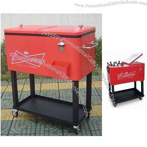 76l steel rolling patio cooler beverage cart distributor