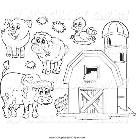 farm animal clipart black  white   cliparts