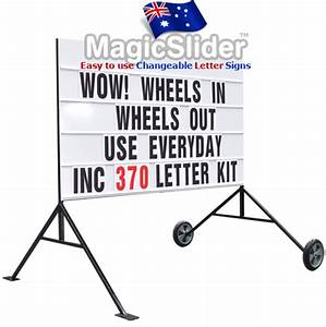 changeable double sided sign portable slide letter sign With changeable letter signs for sale