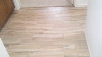 wood look porcelain tile planks for small and narrow hallway after remodel house design ideas