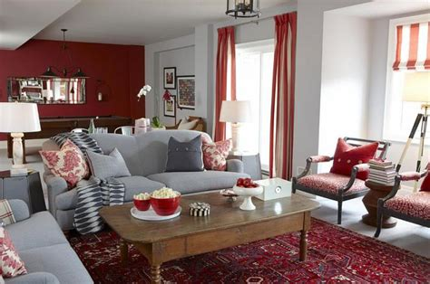 gorgeous red accent living rooms