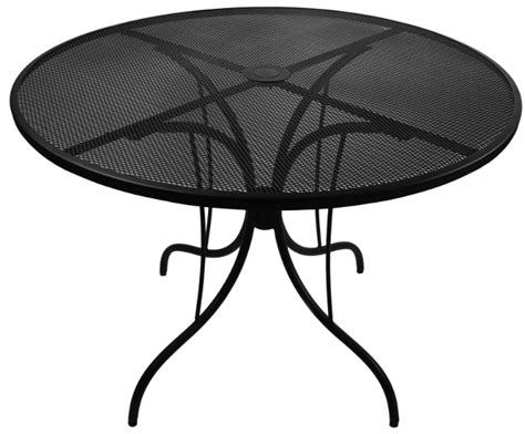 wrought iron mesh outdoor restaurant table w