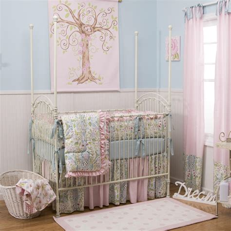 Love Birds Crib Comforter  Carousel Designs