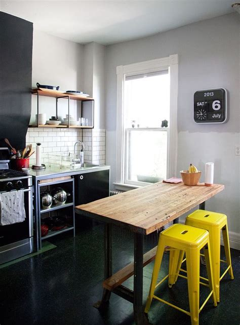 black white and yellow kitchen 18 brilliant kitchen bar stools that add a serious pop of color