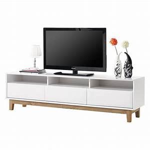 Tv Board Weiß Eiche : tv lowboard melia hochglanz wei eiche home24 ~ Buech-reservation.com Haus und Dekorationen