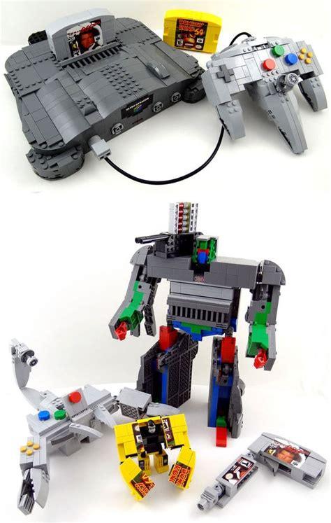 transforming lego nintendo  controller   retro geek