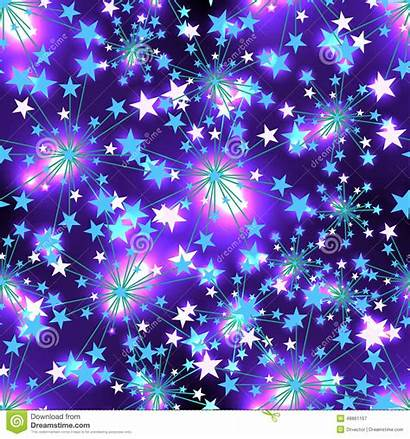Pattern Star Seamless Background Purple Pink Effect